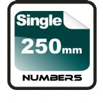 25cm (250mm) Race Numbers (single numbers 1 to 9)